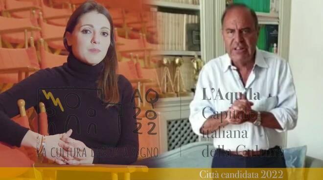 bruno vespa e Simona Molinari l'aquila capitale della cultura