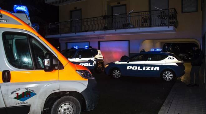 polizia ambulanza l'aquila