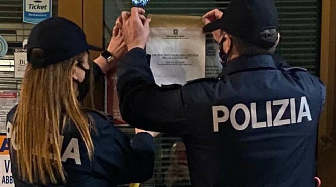 polizia chiusura bar covid