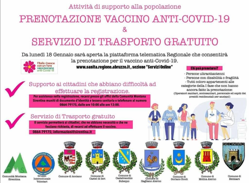 vaccini valle subequana