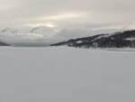 lago campotosto ghiacciato