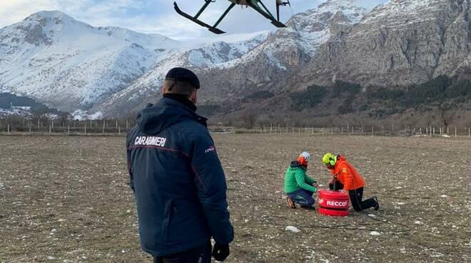 ricerche dispersi velino carabinieri sonar recco