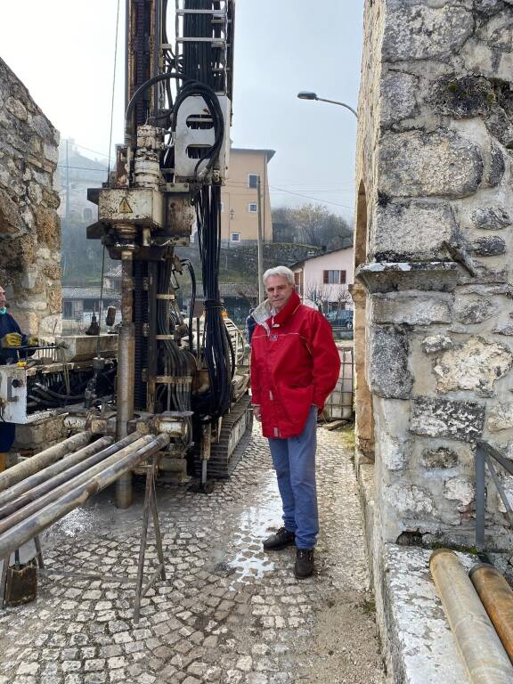 carotaggio ponte romano campana architetto di Gioacchino