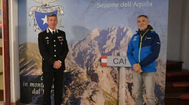 carabinieri e club alpino esercitazione