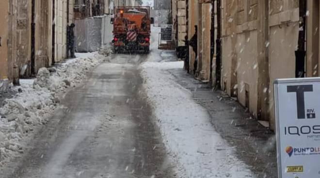 neve l'Aquila marzo 2021