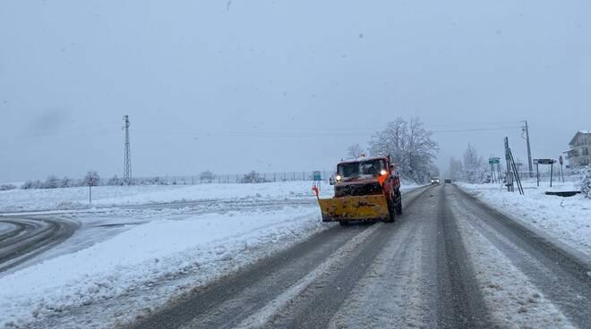 pulizia strade neve l'aquila 9 marzo 2021