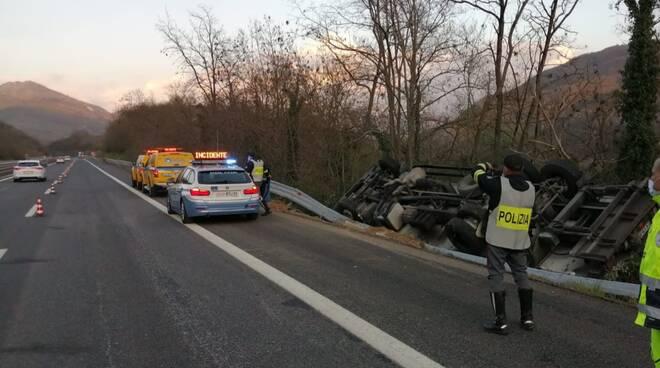 incidente a24 polizia stradale