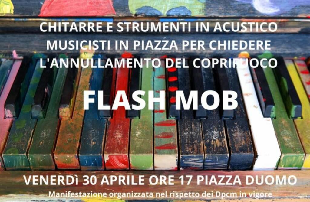 coprifuoco flash mob