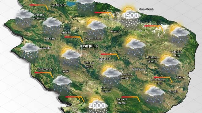 meteo giovedì' 22 aprile 2021