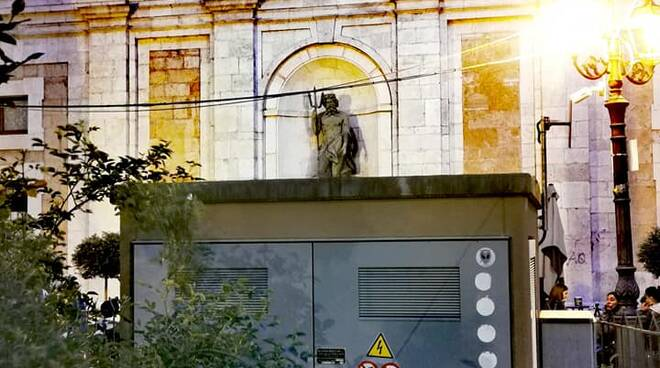 cabina elettrica piazza regina margherita