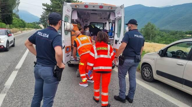 polizia sulmona intervento