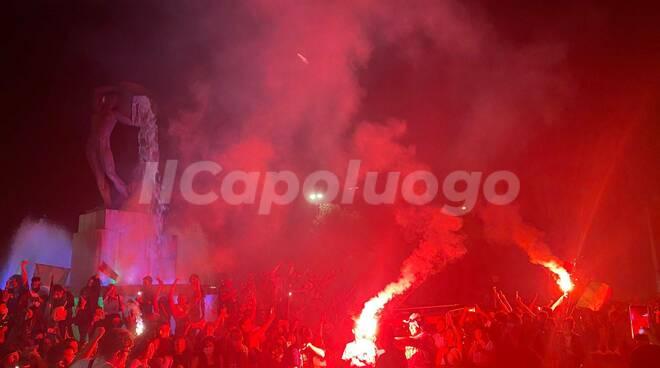 Fontana luminosa festeggiamenti Italia euro2020
