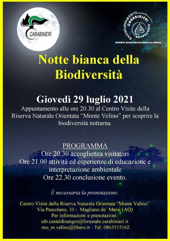 notte della biodiversità
