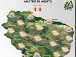 meteo martedì 31 agosto