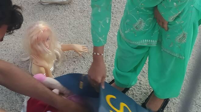profughi afghani bimbi giochi interporto avezzano