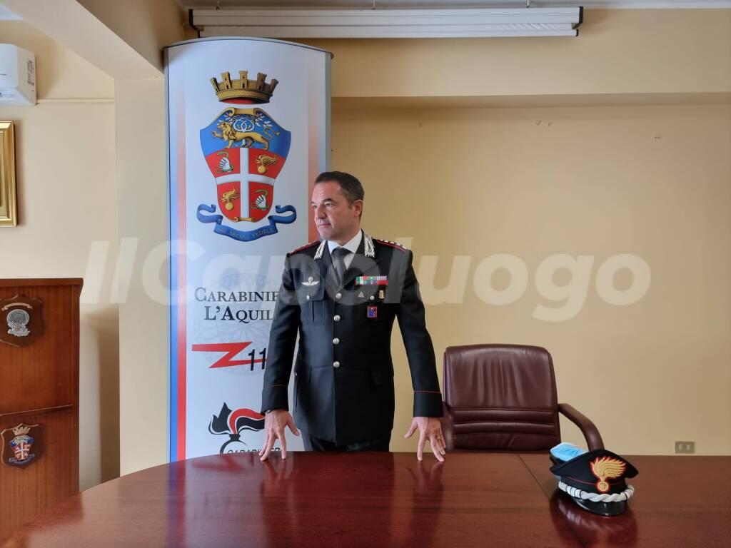 carabinieri l'aquila nicola mirante comandante