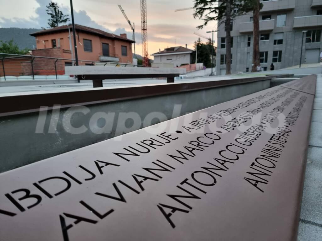 parco della memoria piazzale paoli inaugurazione obelisco