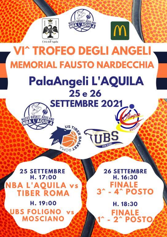 trofeo degli angeli nuovo basket aquilano