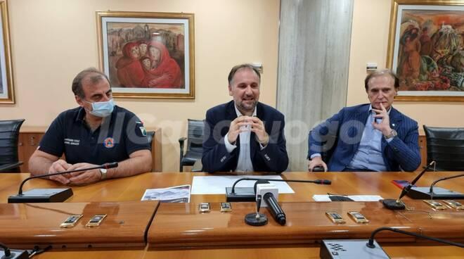 conferenza stampa montagna liris protezione civile