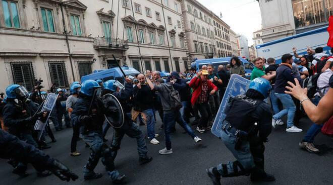 forza nuova roma disordini ANSA