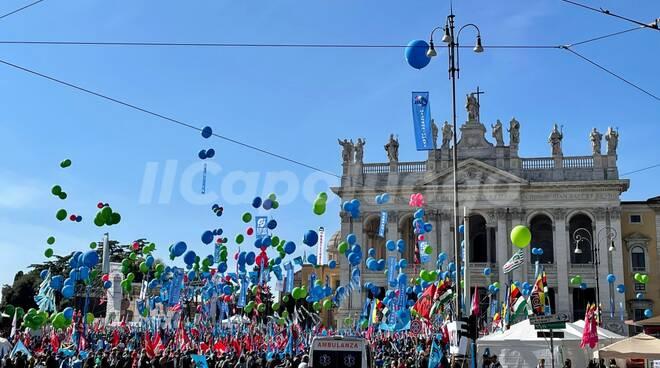 sindacati manifestazione Roma