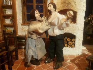 PRESEPE LUCIO CAPRI GIUSEPPE E MARIA