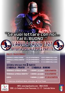locandina offerta L'Aquila Calcio