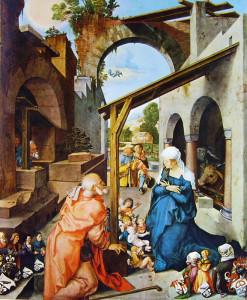 16 Durer - Altare di Paumgartner- la Natività