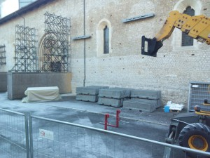 basilica collemaggio allestimento cantiere 2