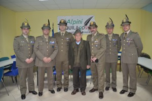 Ercolino Nori e gli alpini del Battaglione L'aquila
